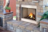 Lennox Hearth H4642 42 Inch Elite Stainless Outdoor Ventle Gas Fireplace - Herringbone