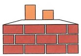 Rectangular arrangement of flues requiring a Rectangular Shape for your Chimney Cap.