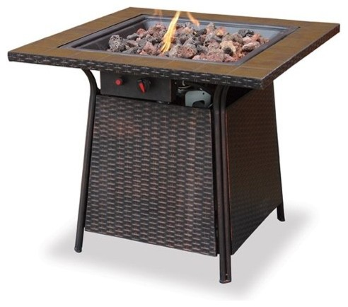 Cool Outdoor Uniflame Propane Tile Gas Fire Pit Table